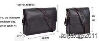 Quality Mens Genuine Leather Shoulder Briefcase Messenger Bag