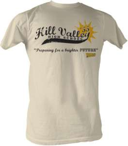 BACK TO THE FUTURE HILL VALLEY HIGH SCHOOL ADULT SHIRT
