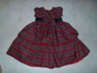 NWOT toddler girl size 4T red plaid dressy dress