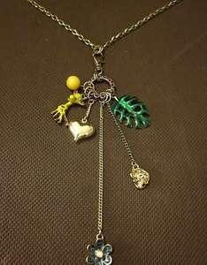 Betsey Johnson Multi Pendant Long Necklace