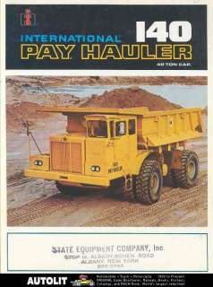 1968 International Pay Hauler 140 40 Ton Truck Brochure