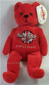 HARD ROCK CAFE Teddy Bear MYRTLE BEACH Stuffed Plush Toy Collectible