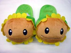 Plants Vs Zombies game Sunflower Plush toy slipper
