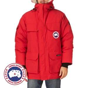 Mens Canada Goose Expedition Parka Jacket   Red