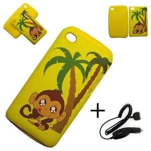 Apple iPod Touch 4G HYBRID (2 IN 1) CASE PALM TREE MONKEY