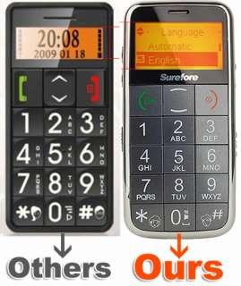 Key SOS Big Button/FONT Mobile Phone Elderly Senior Citizen