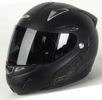 Nitro F347 VN Front Flip Motorcycle Helmet Satin Matt Black Small
