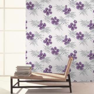 Crown Freya Fresh Purple Silver Wallpaper Floral M0629