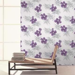 Crown Freya Fresh Purple Silver Wallpaper Floral M0629 |