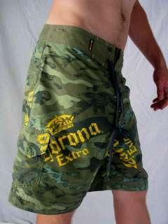 Corona Extra Mens Surfer Board Shorts Swim Wear Large
