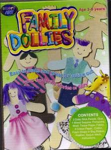 Smart Art New Kids Craft Kit Family Dollies 3 8 years
