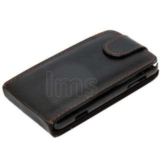 Black Flip Leather Case Cover For LG Optimus 3D P920