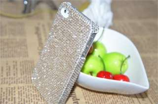 White Luxury Bling Shine Crystal Diamond Rhinestone Case Cover for