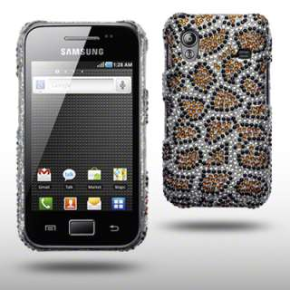 LEOPARD SPOTS BLING CASE FOR SAMSUNG GALAXY ACE S5830