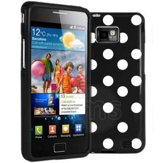 Magic Store   Black Polka Dots Gel Case For Samsung Galaxy S2 i9100