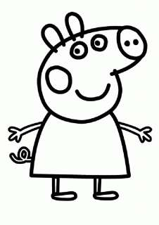 Peppa pig vinyl Sticker George Pig bedroom wall art decoration car