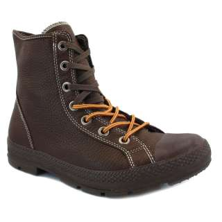 Converse Outsider High Mens Leather Lace Up Boots Chocolate