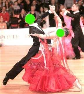 Abito danze standard bianco e rosso usato a Torrazza Coste