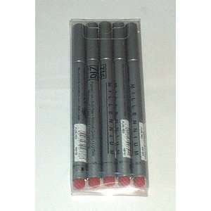 Millenium 5pc Technical Drawing Fine Line Pen Set Red Office Products