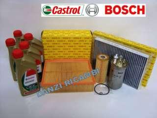 TAGLIANDO BOSCH AUDI A4 1.9 TDI + OLIO CASTROL EDGE 5W30 LONGLIFE