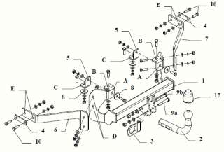 Attelage de Remorque Peugeot 205 1983 1998 HAYON **NEUF