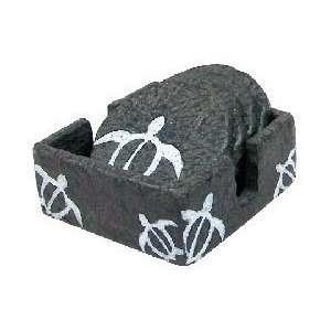 Hawaii Petroglyph Coasters 4 Pack Round Turtle: Kitchen
