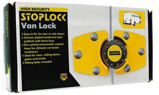 High Security Stoplock Van Lock