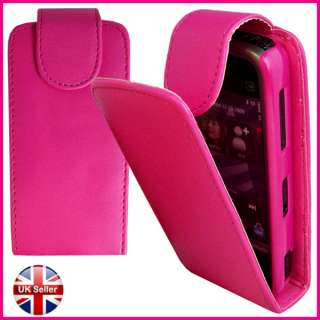 PINK LEATHER FLIP POUCH CASE COVER FOR NOKIA 5233