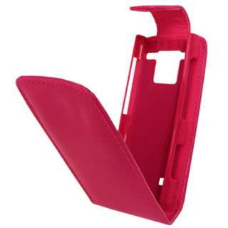 HOT PINK LEATHER FLIP CASE COVER POUCH FOR NOKIA X2 00