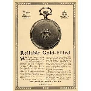 Filled Pocket Keystone Watch Case   Original Print Ad: Home & Kitchen