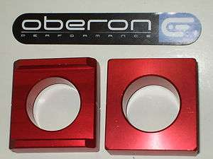 OBERON Honda VTR1000 SP1 / SP2 Anodised Chain Adjuster Blocks