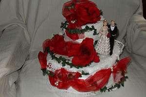 Hochzeit Torte Geldgeschenk Handtuchtorte bordeaux