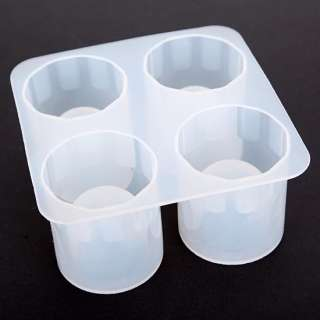 Silicone Shooters Ice Cube Shot Glass Freeze Mold Mould