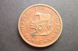 1961 SOUTH AFRICA 1 CENT COIN