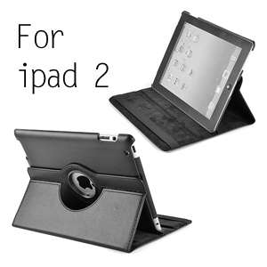 support cuir noir pour ipad 2 smart cover 360° vertical horizontal