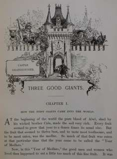 1888 Antique THREE GOOD GIANTS book GUSTAVE DORE French Renaissance
