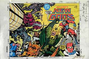 NEW GODS BOOK 5 COVER JACK KIRBY ORIGINAL 3M COLOR PRODUCTION ART