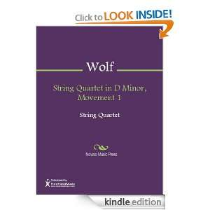 Minor, Movement 1 Sheet Music: Hugo Wolf:  Kindle Store