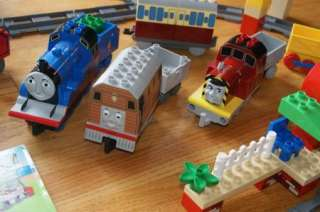 HUGE DUPLO LEGO THOMAS TRAIN SET TRACKS CRANKY PERCY JAMES SALTY