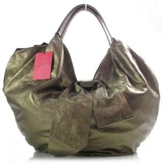 VALENTINO GARAVANI Leather Bow Bag Purse Tote Metallic