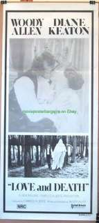 LOVE AND DEATH MOVIE POSTER 1975 ORIG AUS. WOODY ALLEN