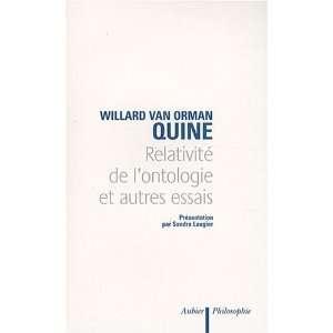 et autres essais (9782700701722) Willard Van Orman Quine Books