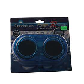 PS 5006 Car Auto Mount Dual Drink Cup Holder Can Bottle Stand (Blue