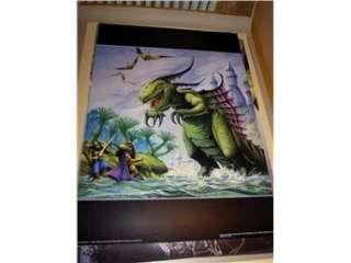 Rodney Matthews Fantasy Art 13 (Warriors & dragon) FRI FRAKT på