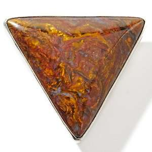 Jay King Red Chinese Pietersite Sterling Silver Triangle Pendant at