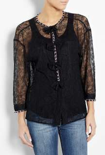 Chain Detail Lace Shirt by D&G