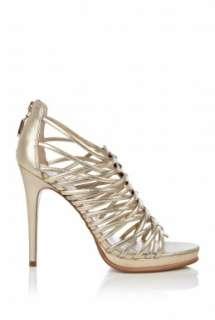 Diane Von Furstenberg  Metallic Envy Multi Strap High Shoe by Diane