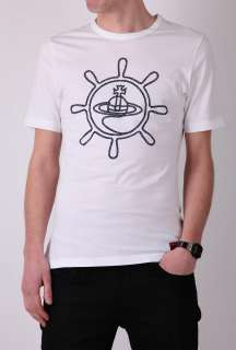 White Ships Helm Logo T Shirt by Vivienne Westwood   White   Buy T