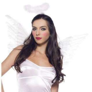 White Deluxe Feather Angel Accessory Kit   Includes Wings and marabou