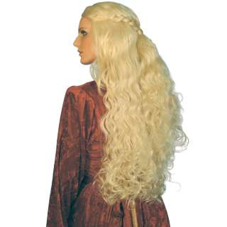 Medieval Long Blonde Wig Adult   A very long and wavy blonde wig with